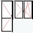 Balkónová sestava s dvoukřídlým oknem bez sloupku